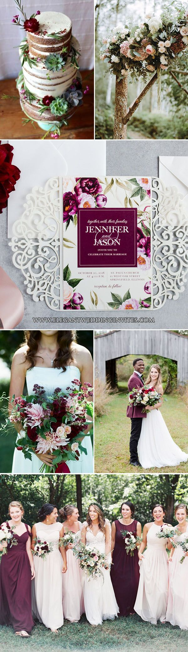 Wedding decorations theme october 2018  Chic Rustic Wedding Themes with Matching Invitations  Wedding