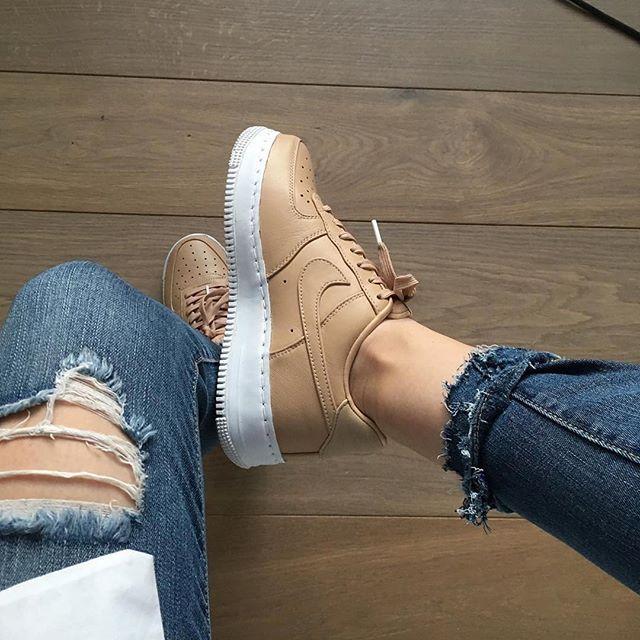 zapatillas nike air force blancas mujer