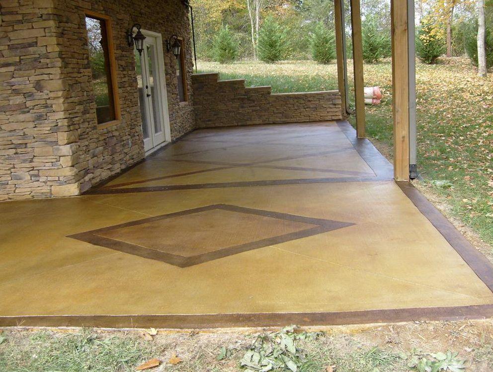 painted patio floor Concrete Patio Floor Paint Ideas painted