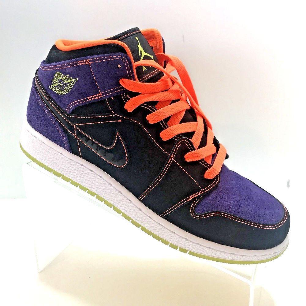 tiendas populares 100% genuino Tienda online Nike Air Jordan 1 Phat GS Black Purple Orange Size 7Y Shoes ...