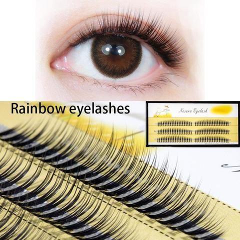 db2591b3f8d 7-11mm Natural Soft False Eyelash Extension 10D lashes W lash Deluxe Lashes  Rainbow Fake Eyelashes