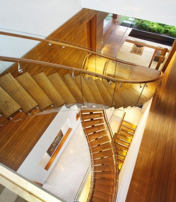 Beau Awesome House Design Concept In Singapore Floating Staircases Plexi Glass  Wood