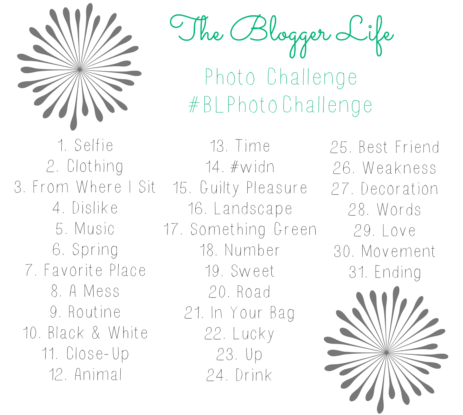 The Blogger Life Photo Challenge - 31 photos in 31 days. #spring #bloggers #photos