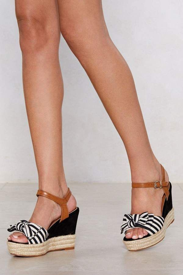 52b2c2e32d4 Bow Away Striped Wedge   Dream Style   Wedges, Espadrilles, Crazy shoes