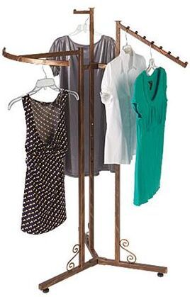 Decorative Floor Rack With 3 Arms 81 00 Boutique Clothing Rack