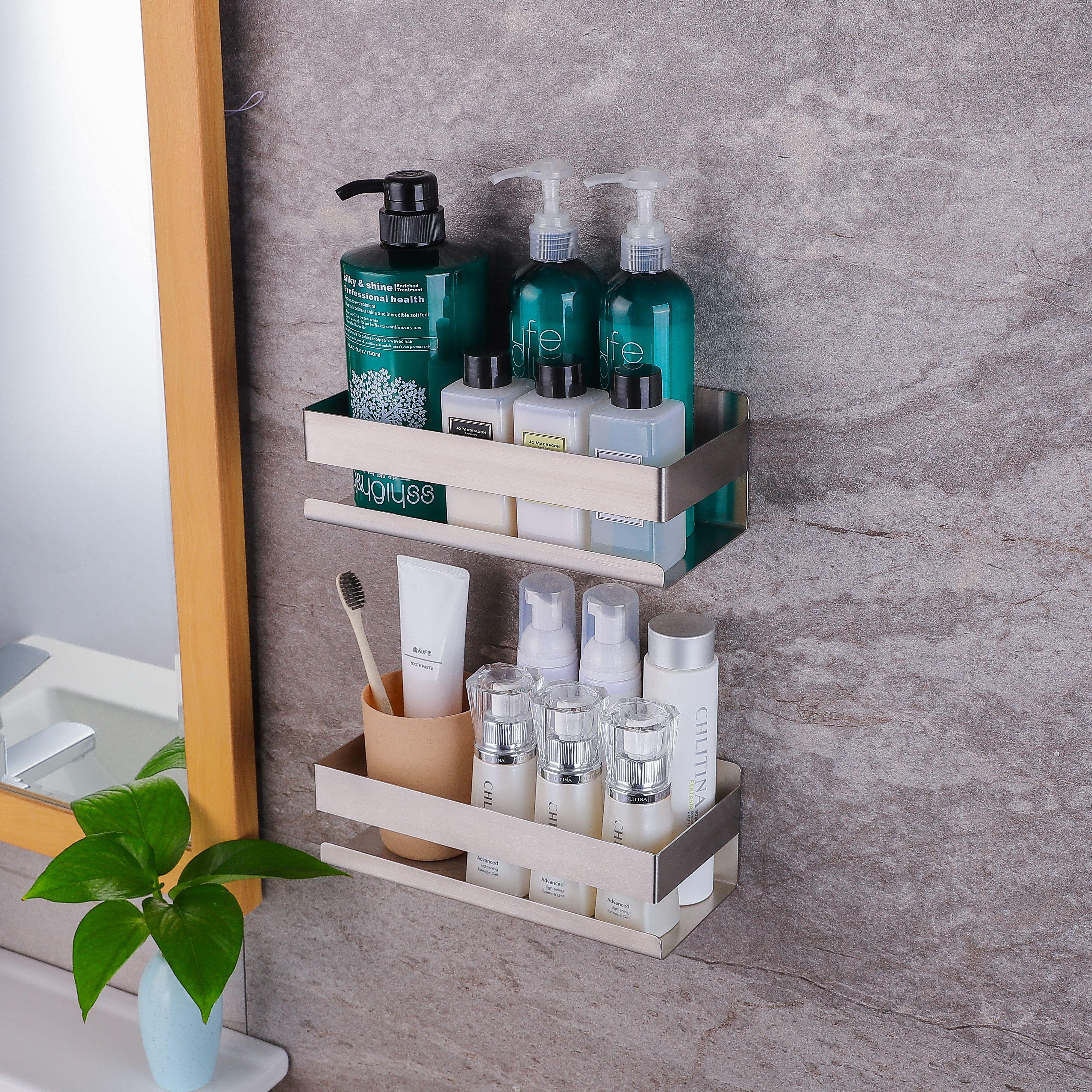 Yigii Shower Caddy In 2021 Bathroom Hardware Set Shower Shelves Bathroom Baskets