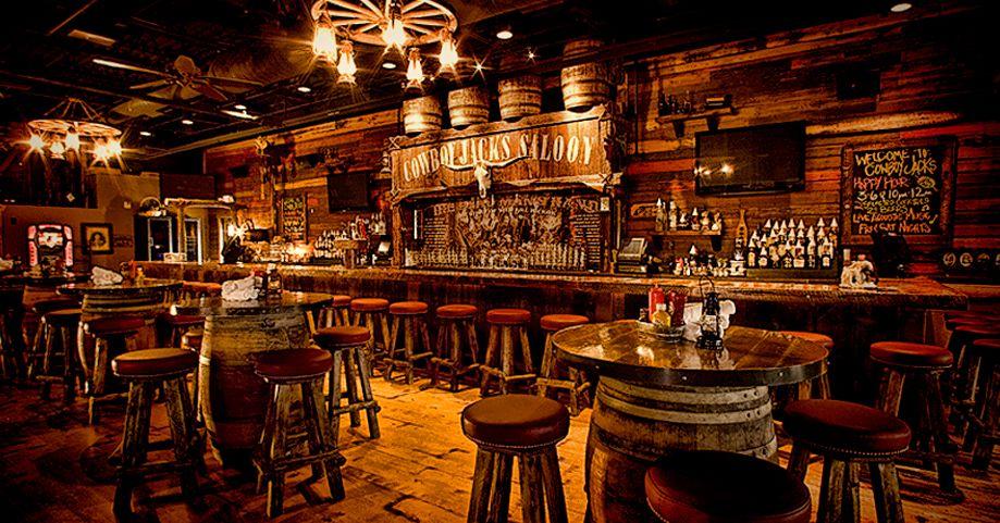 Rustic Bar Decor Barrel Tables And Worn Wood Look Diy Home Bar