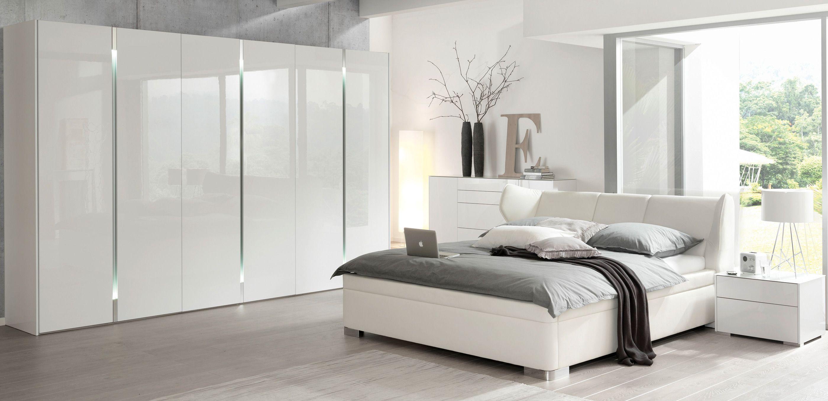 schlafzimmer komplett weiß hochglanz haus ideen innenarchitektur - Komplett Schlafzimmer Weiß