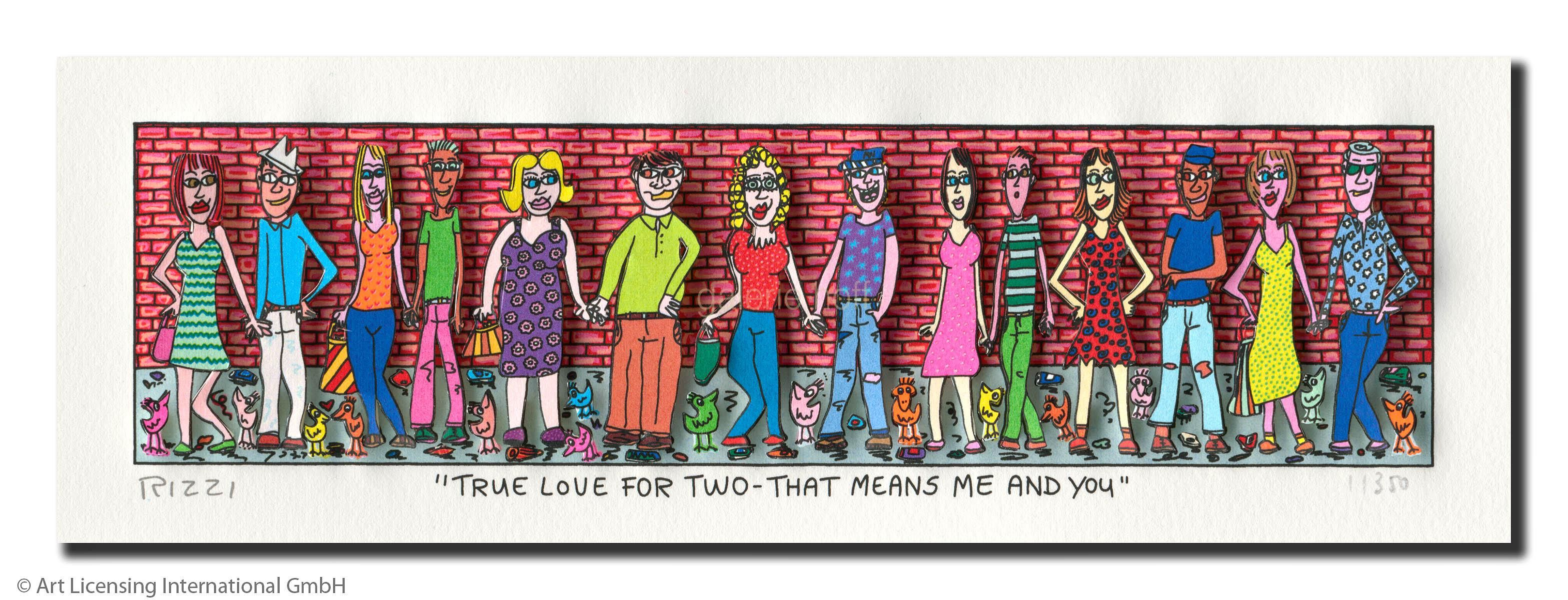 James Rizzi True Love For Two That Means Me And You Galerie Hoff James Rizzi Kunst Echt Jetzt