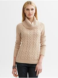 a3cb466da756c Cable-knit turtleneck sweater... Banana Republic