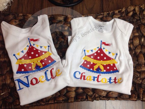 Circus Under the BIG tent shirt.  Perfect for a by PrettysBowtique, $22.00