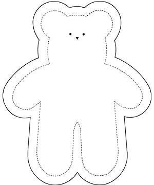 graphic relating to Free Printable Teddy Bear Patterns titled Free of charge Printable Teddy Undergo Designs - - Impression Good results