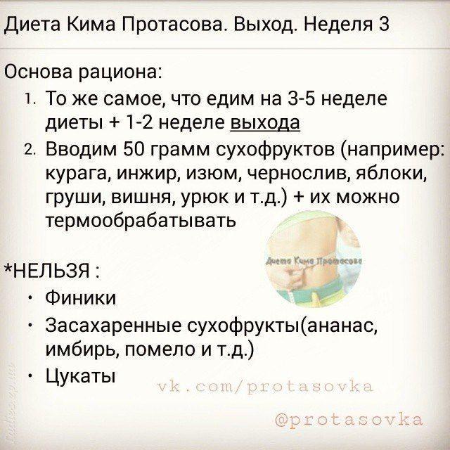 Принципы Диеты Кима Протасова. Знаменитая «Протасовка»: пять недель на пищевое перевоспитание
