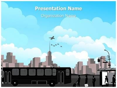 Transportation Bus Station Powerpoint Template Is One Of The Best