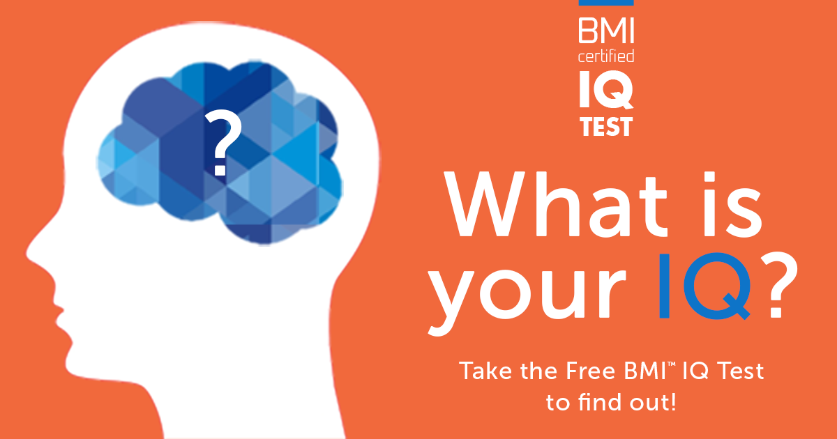 Free IQ Test by BMI™  Take this quick, free IQ Test  It