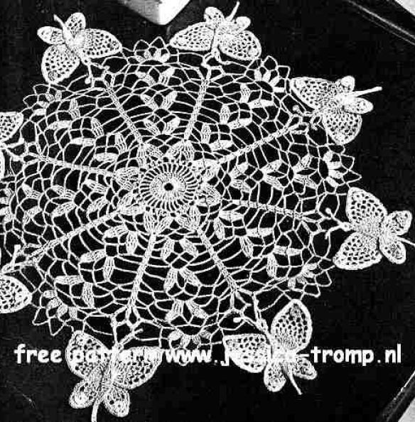 Butterfly doily free vintage crochet doilies patterns | Crochet ...
