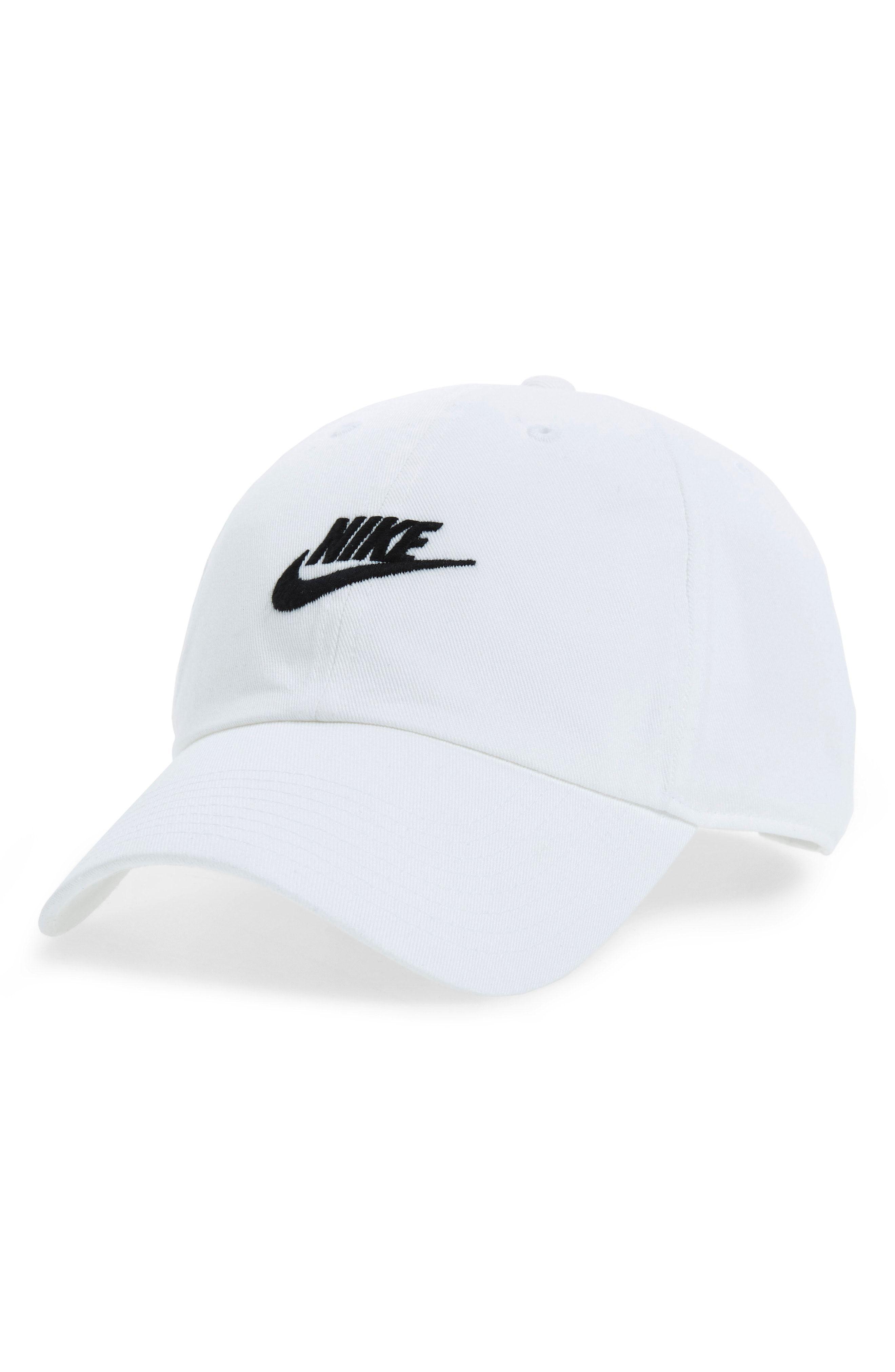 0f3f1760c3762f NIKE FUTURA WASHED CAP - WHITE.  nike