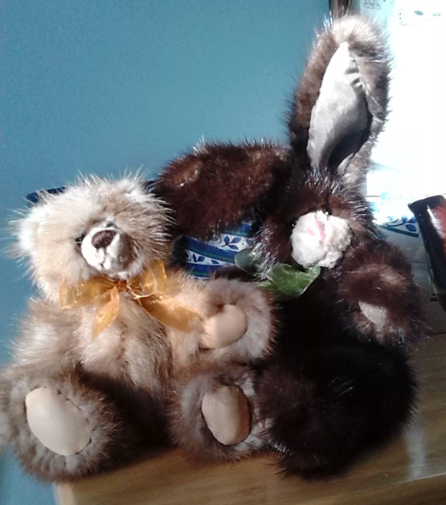 mink bear and mink bunny
