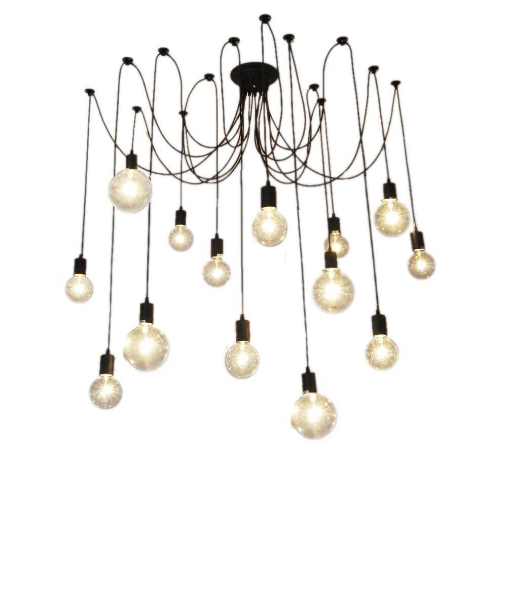 14 pendant swag chandelier chandeliers industrial and modern 14 pendant swag chandelier aloadofball Images