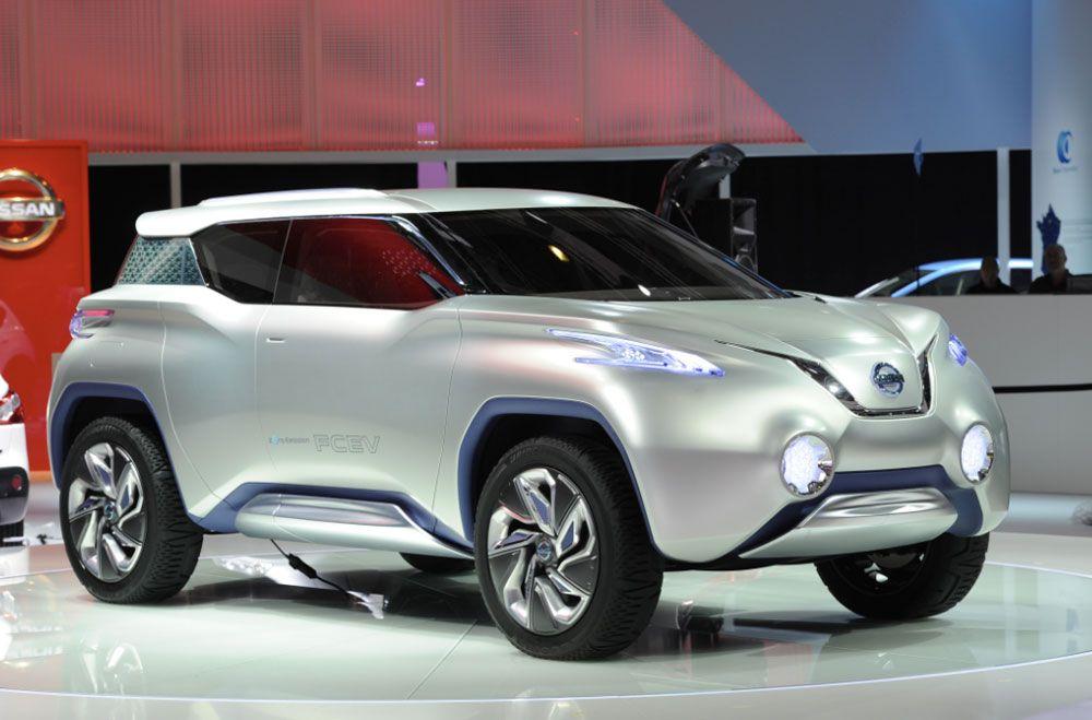 Front View Of The Nissan Terra Concept Paris Motor Show 2012