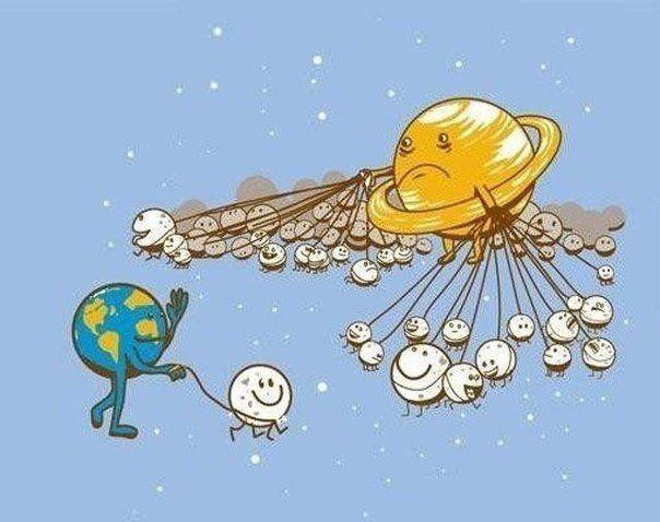 Смешные рисунки на тему космос, прикольные картинки первая