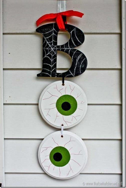 Boo Halloween Door Hanging Easy Diy Halloween Diy Halloween Decorations Halloween Crafts