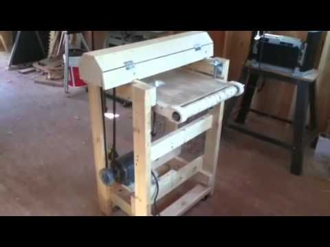 How to build a Homemade 18 inch Drum Sander from an Old Lathe and treadmill motors…
