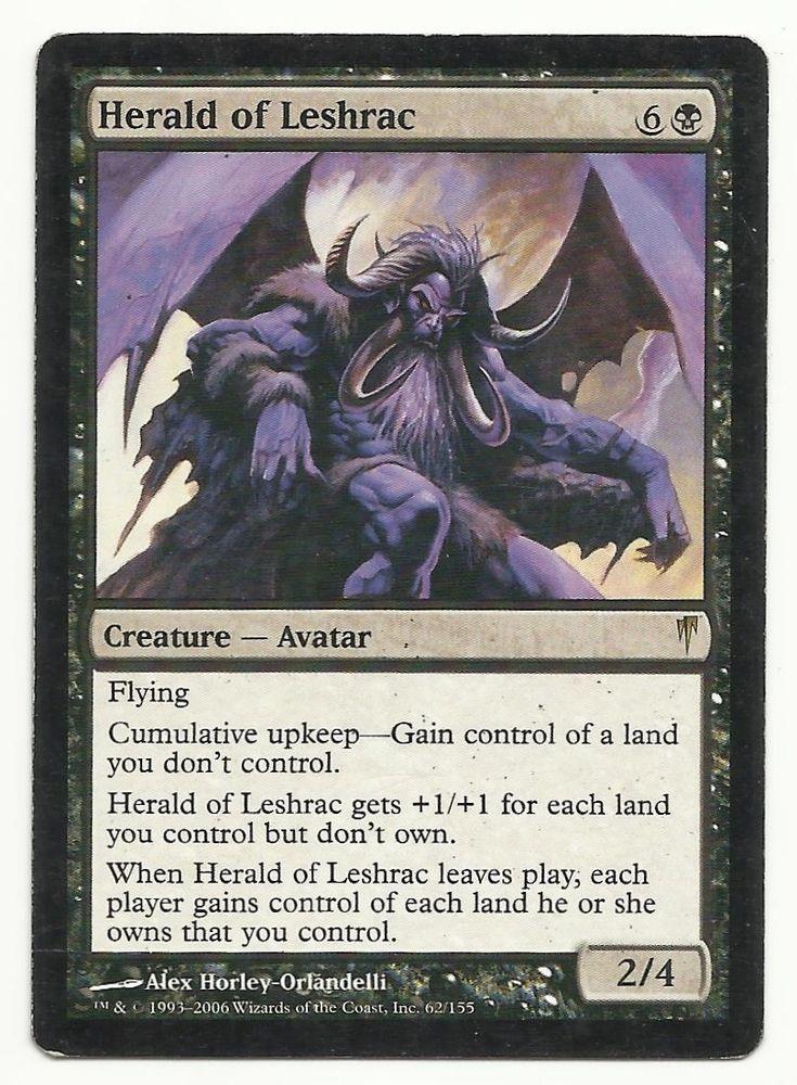 Herald Of Leshrac X1 Mtg Coldsnap Black Creature Magic Card Edh