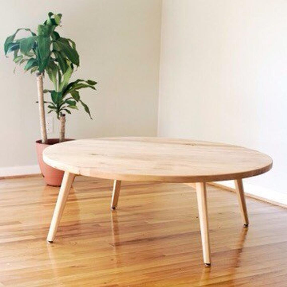Round Scandinavian Coffee Table Maple Coffee Table Walnut Etsy Scandi Coffee Table Handcrafted Coffee Table Coffee Table [ 1002 x 1000 Pixel ]