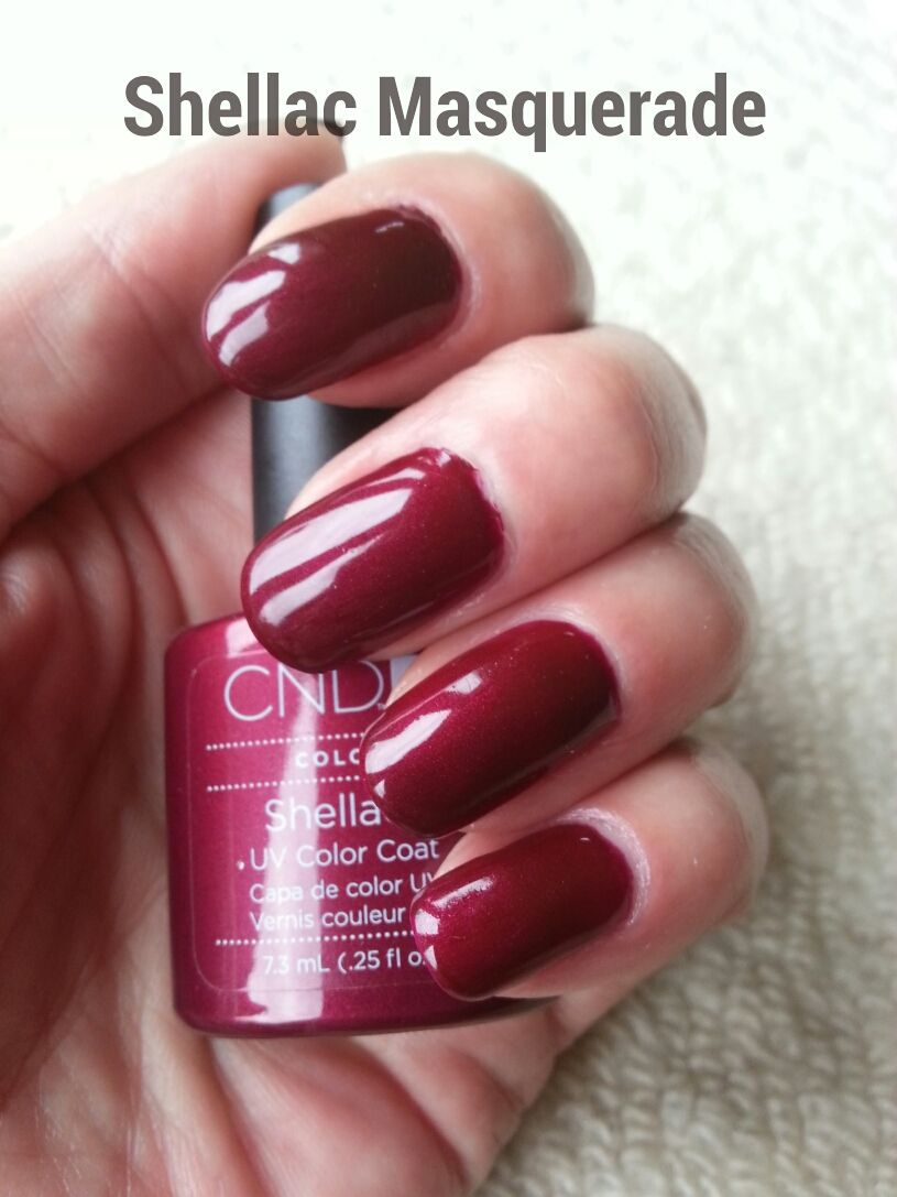 Masquerade - shimmer - opaque - dark red with violet hue | Pampered ...