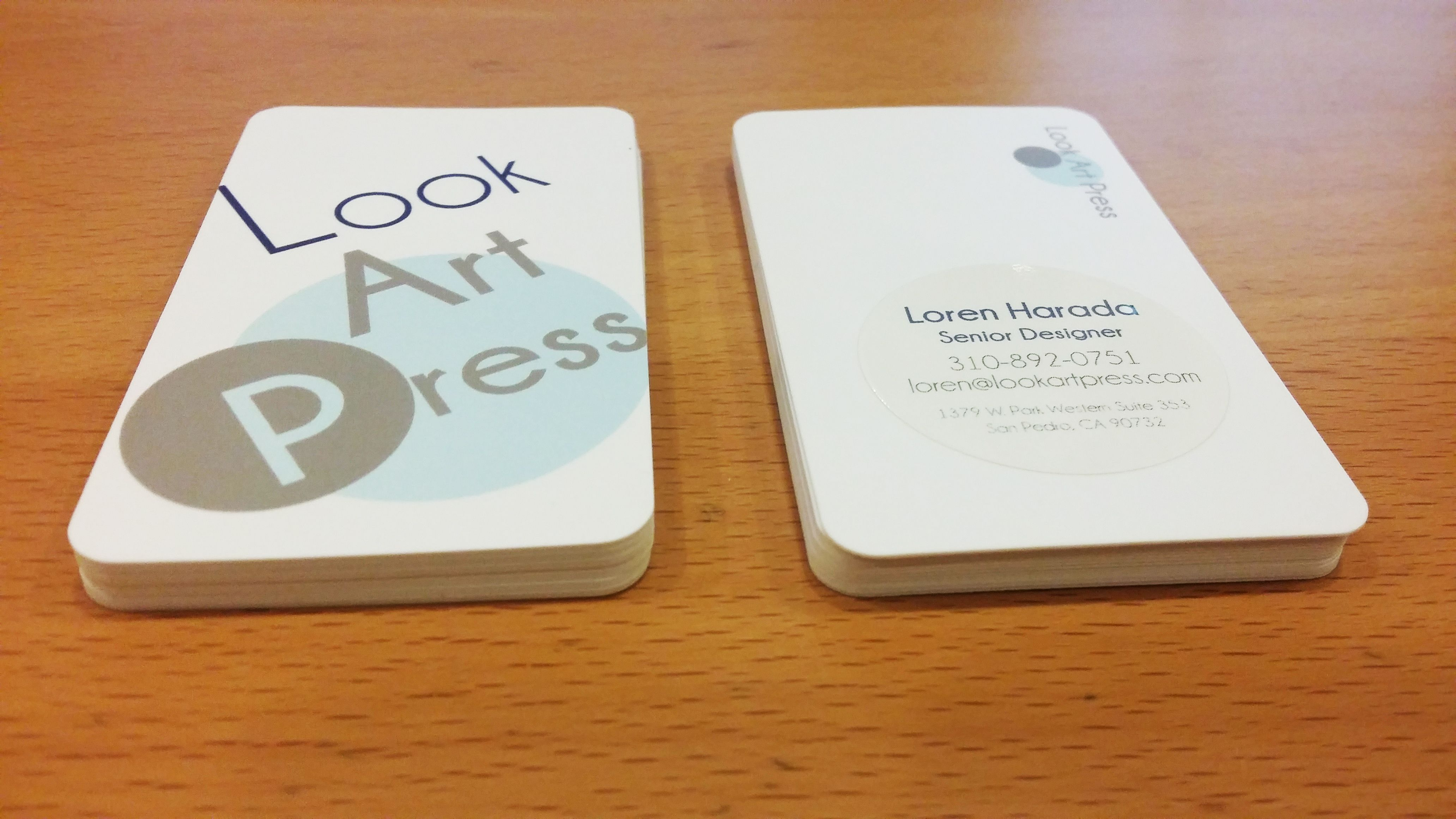 Look Art Press Business Card Design Front and Back Side, Sticker ...