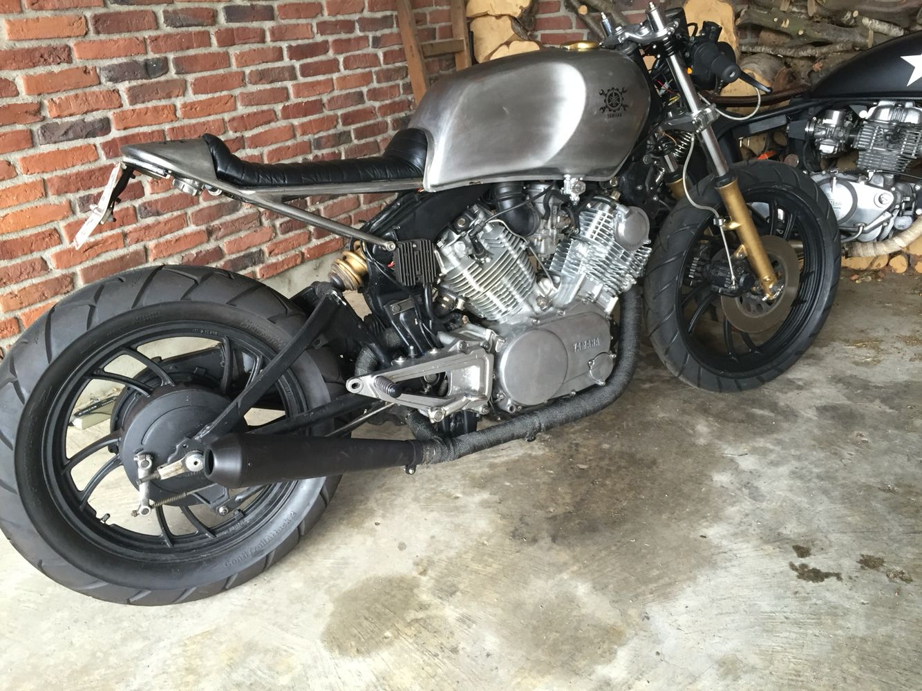 #Yamaha #tr1 #xv 1000 #cafe racer