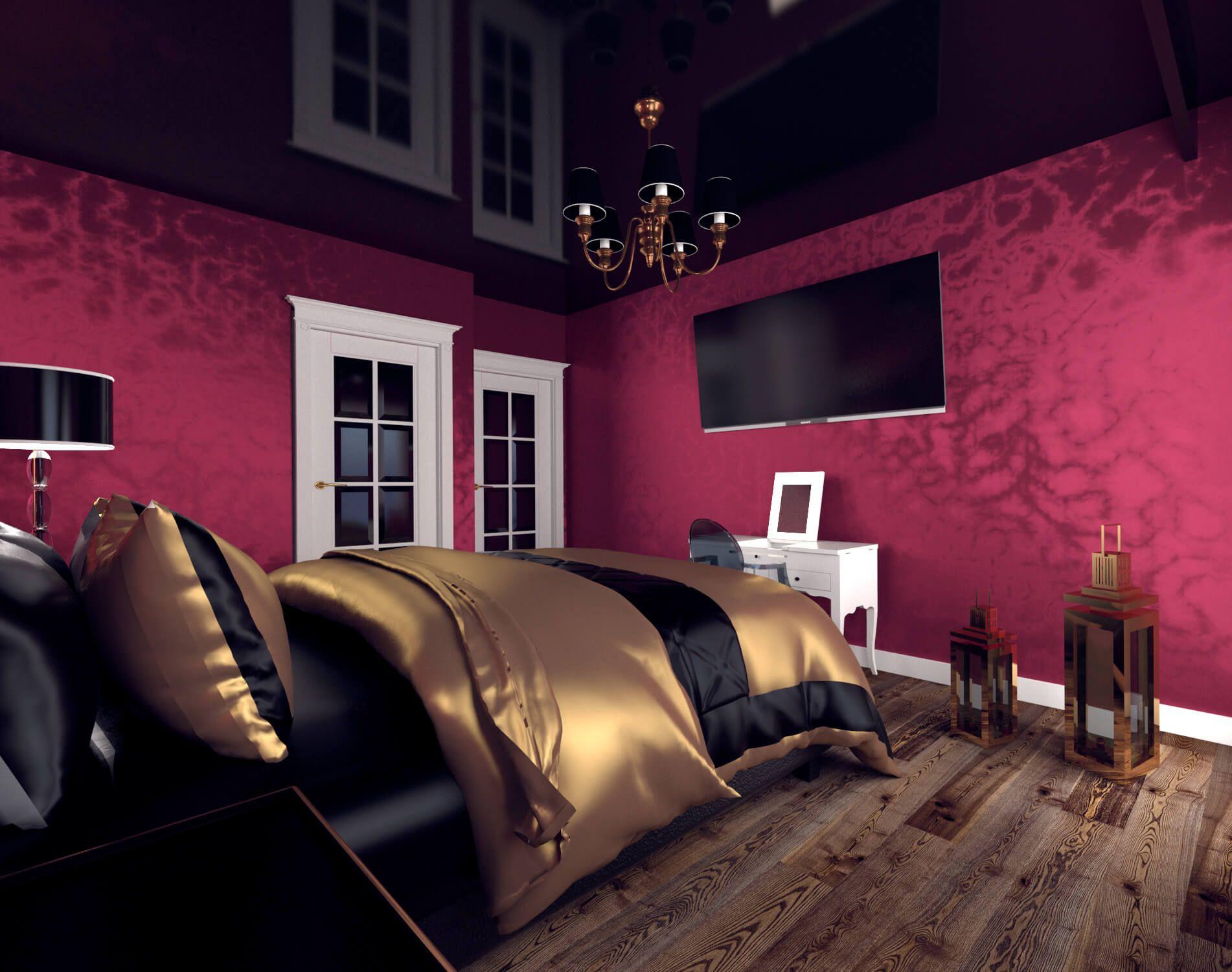Projekt Ciemnej Sypialni Dark Bedroom Project Projekt
