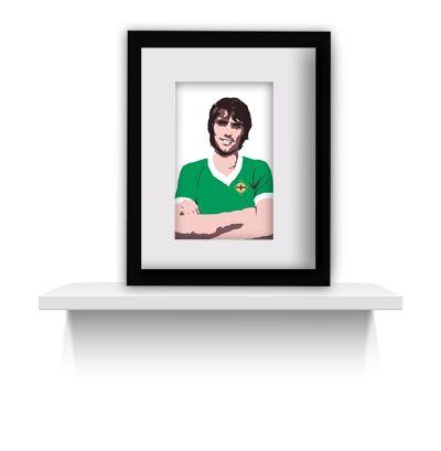 George Best - Manchester United footballer pop art print canvas art pop art print