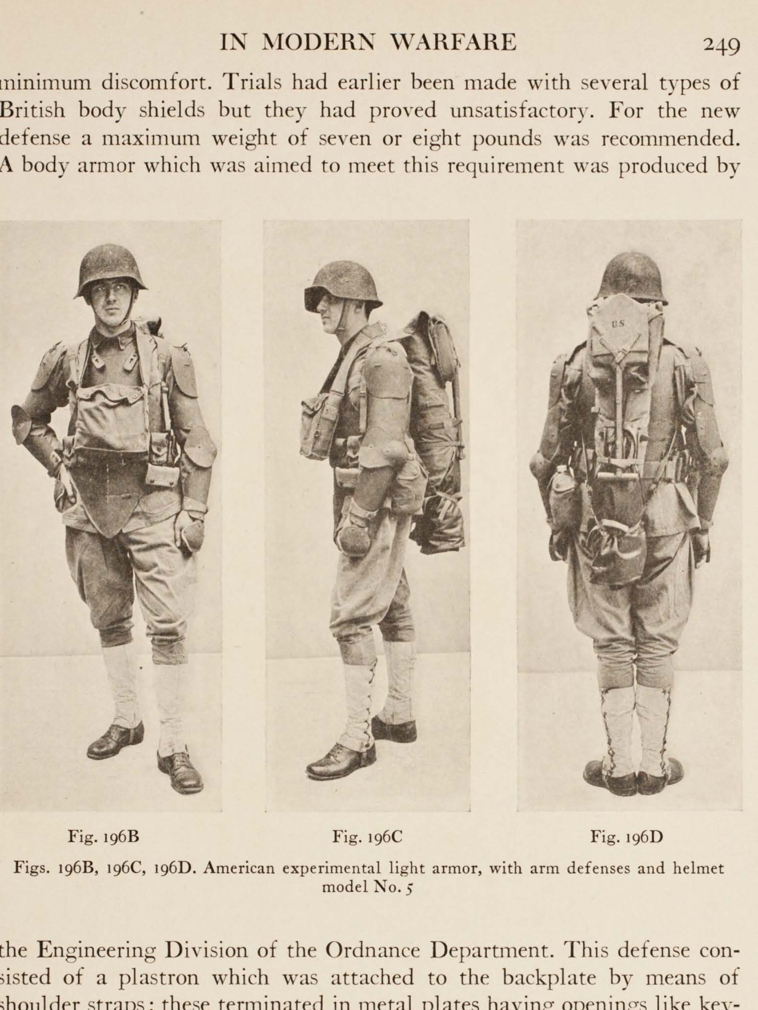 Experimental US Low-Weight Armor. It was apart of a program to equip ...