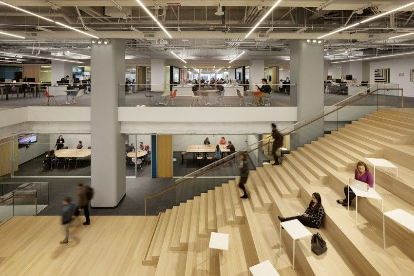 Square Inc Headquarters Architect Magazine Bohlin Cywinski Jackson San Francisco Ca Office Institute Honor With Images Bleacher Seating Stairs Architecture Design