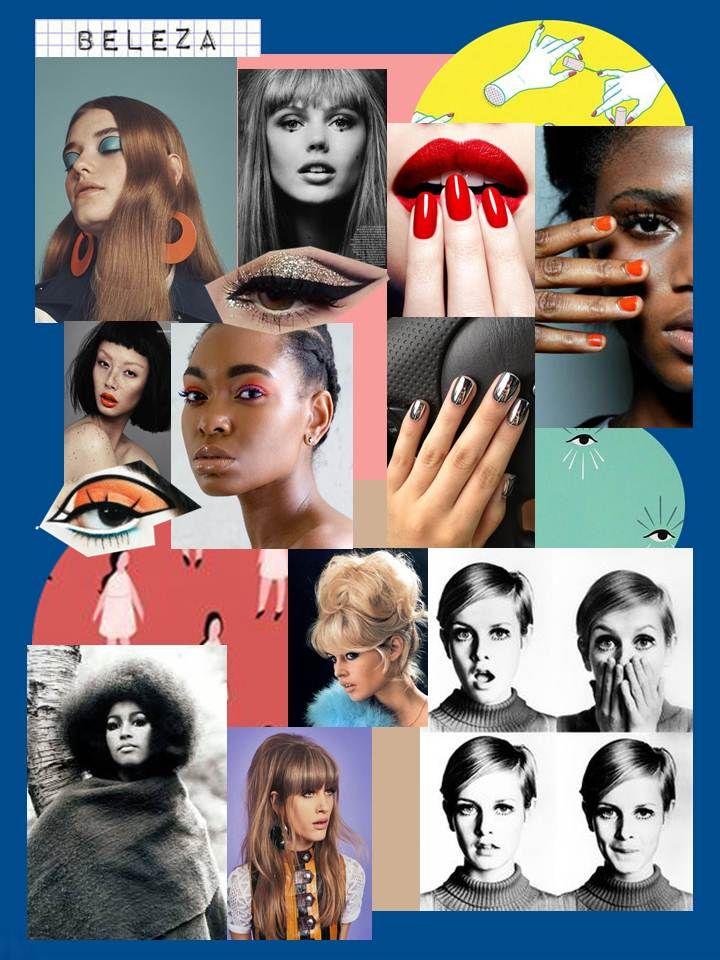Referências beleza / moda anos 60 - Beatriz Lima/2017