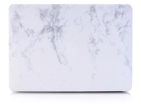 Macbook Case | Marble Collection - White Marble - kecshop