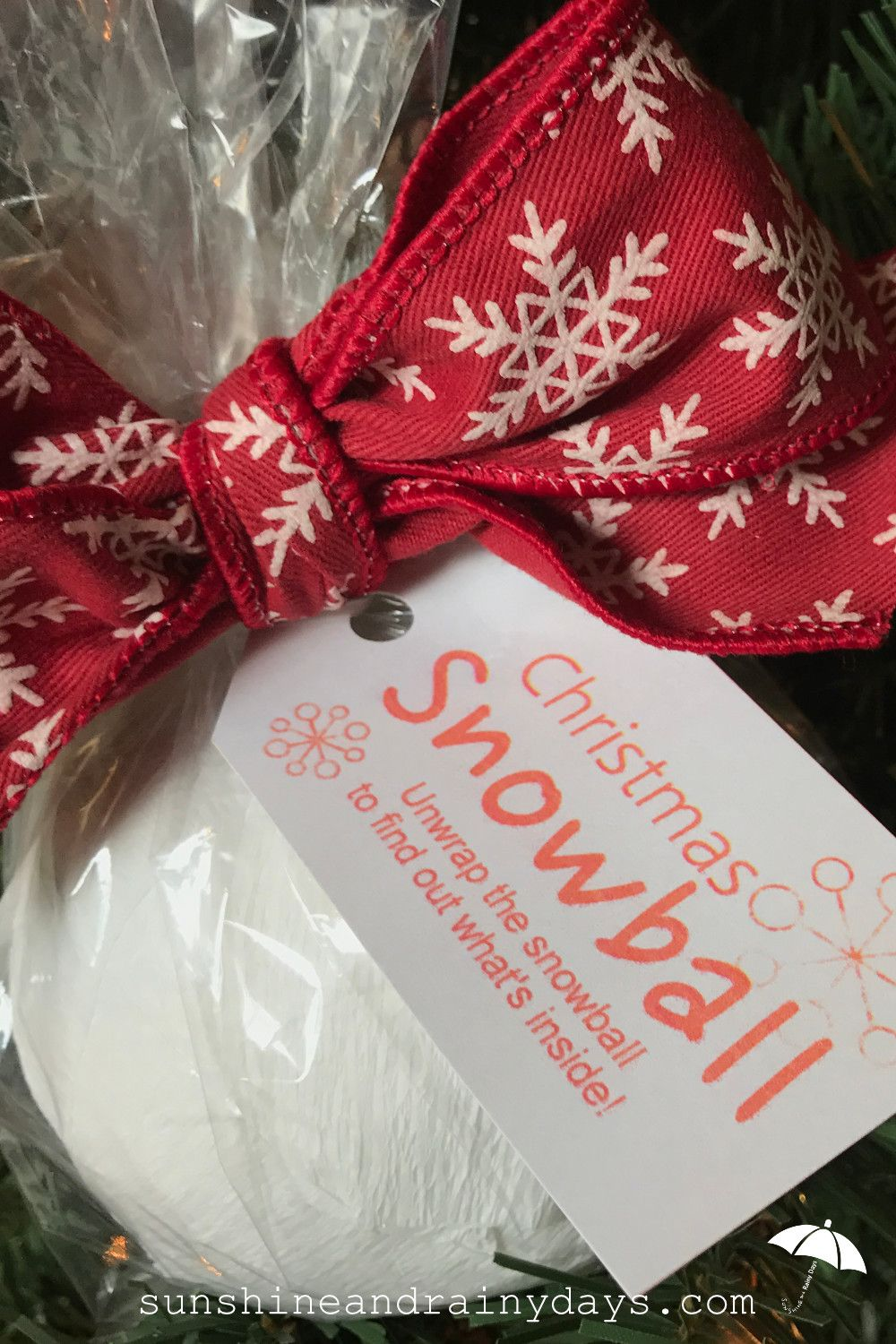 Christmas Snowball – A Creative Way to Give Money! | Sunshine and ...