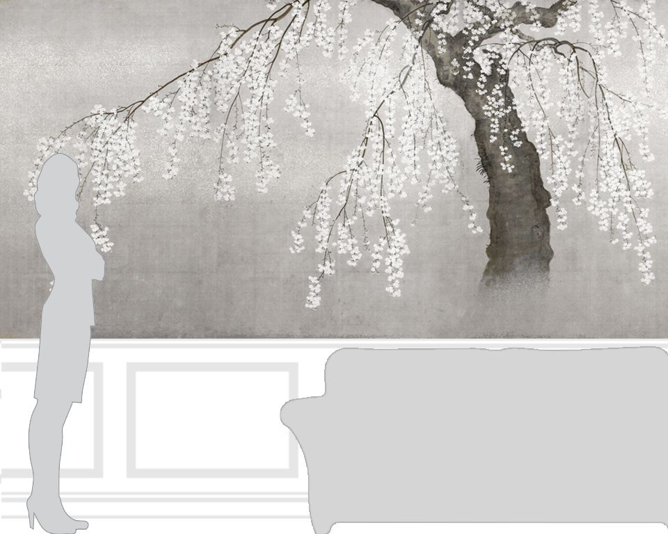 Papier Peint Japonais Cerisier En Fleurs Papiers De Paris Noel