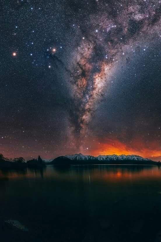 Milky Way From Ashburton Lakes Area In New Zealand Night Sky Stars Night Skies Sky Photography