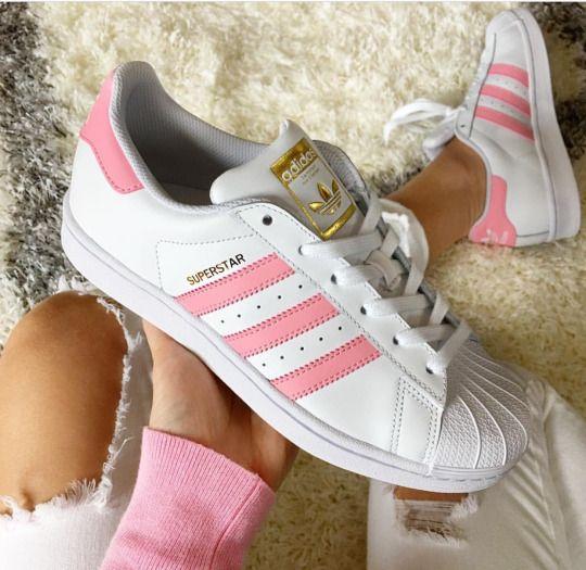 adidas superstar rose blanche