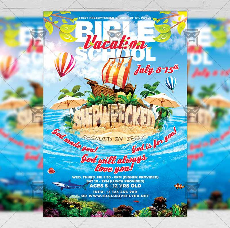 Vacation Bible School Church A5 Flyer Template Exclsiveflyer Free And Premium Psd Templates Flyer Vacation Bible School Flyer Template