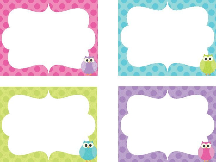 Name Tags On Pinterest Owl Labels Kids And Clock Numbers Med