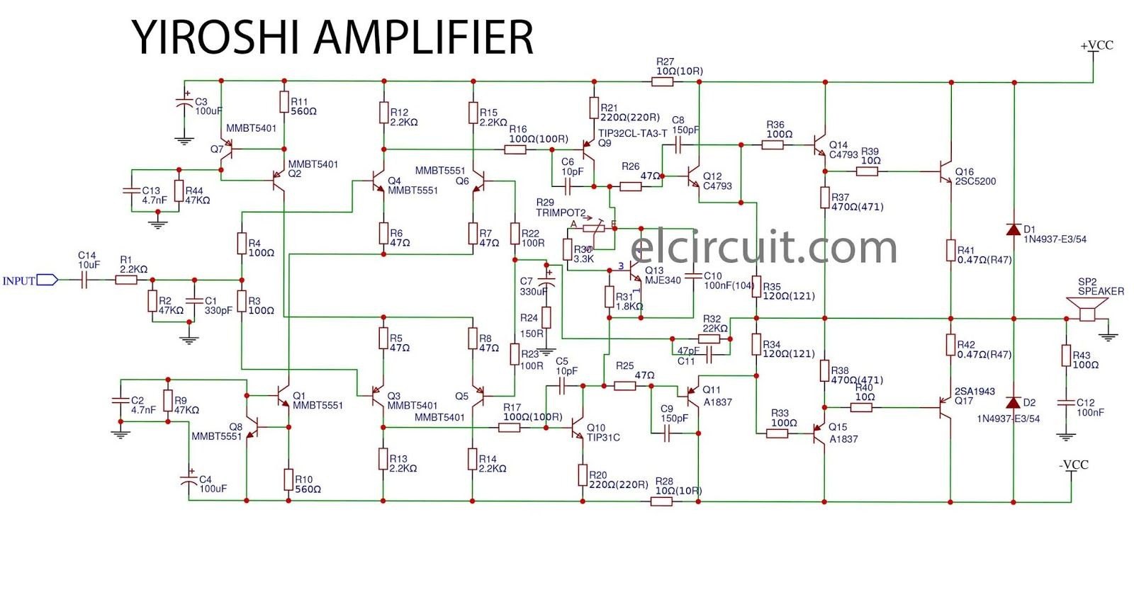 Yiroshi Power Amplifier Smd In 2018 Electronics Diy Circuit 2000w Amp Ocl Using Sanken Electronic