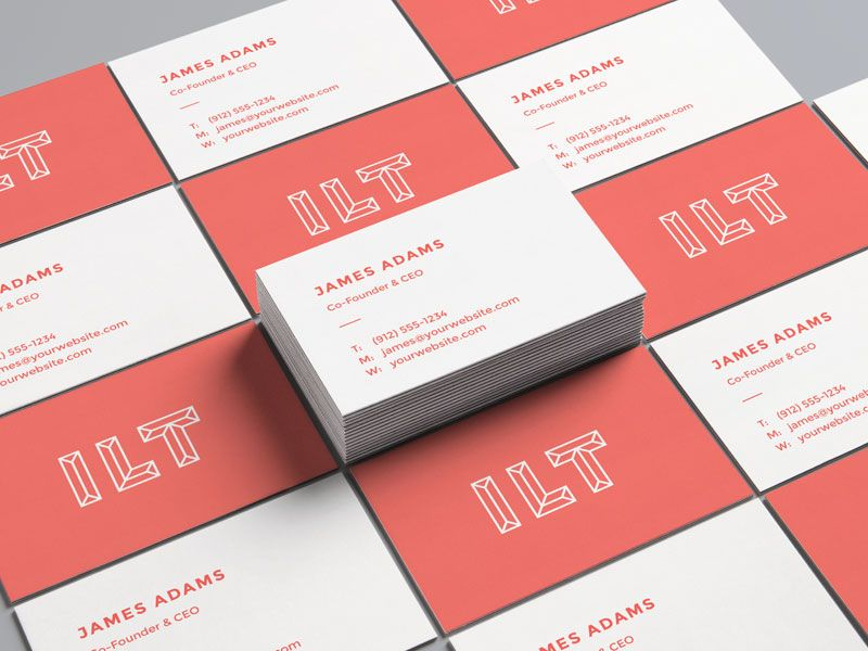A perspective view of PSD mockup for business card. Dimensions are ...