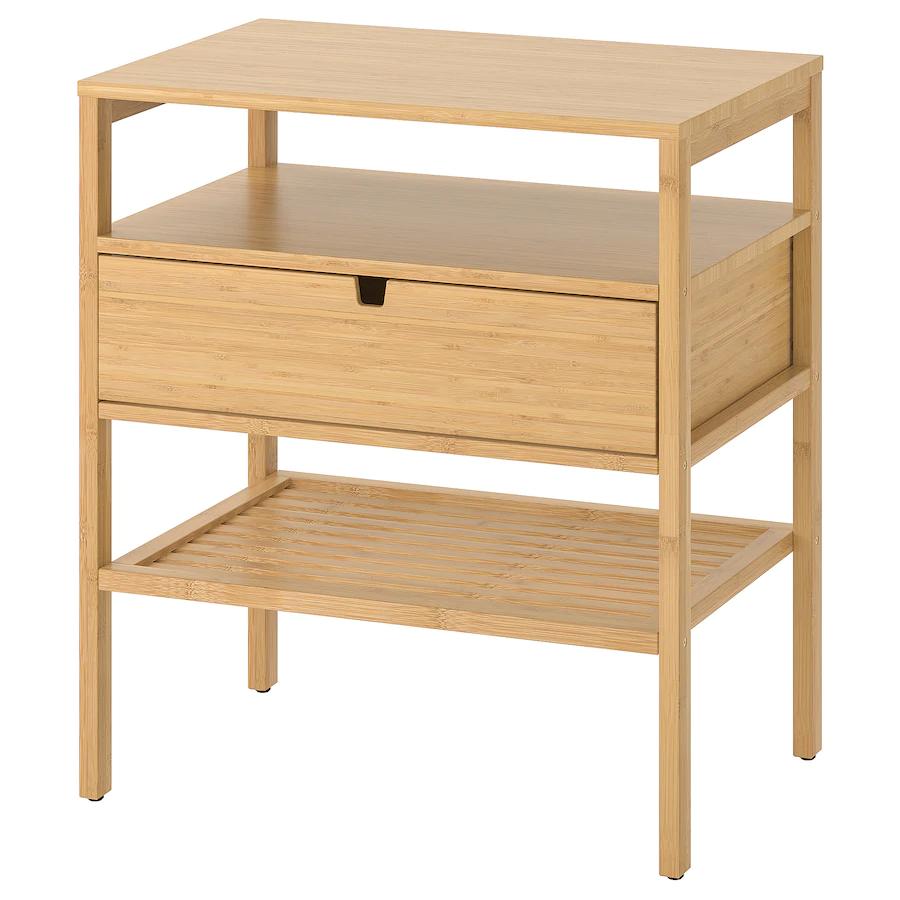 Nordkisa Nightstand Bamboo Width 23 5 8 Ikea In 2020 Bedside Table Ikea Nightstand [ 900 x 900 Pixel ]
