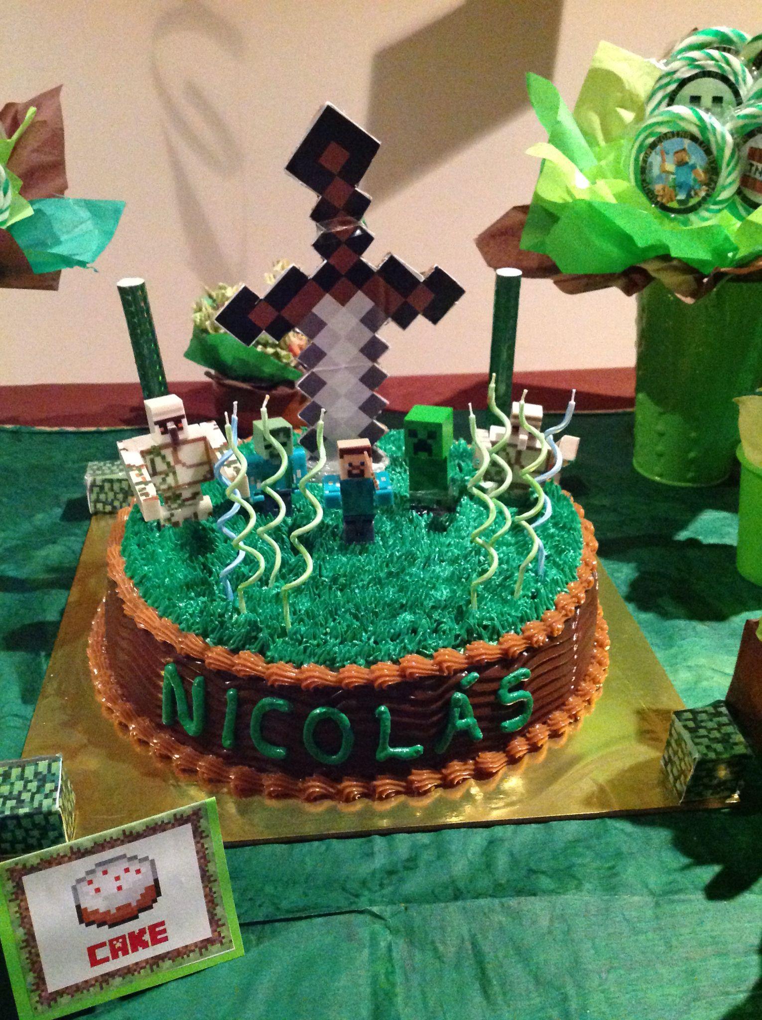 Torta minecraft tortas etc pinterest for Decoracion de tortas caseras