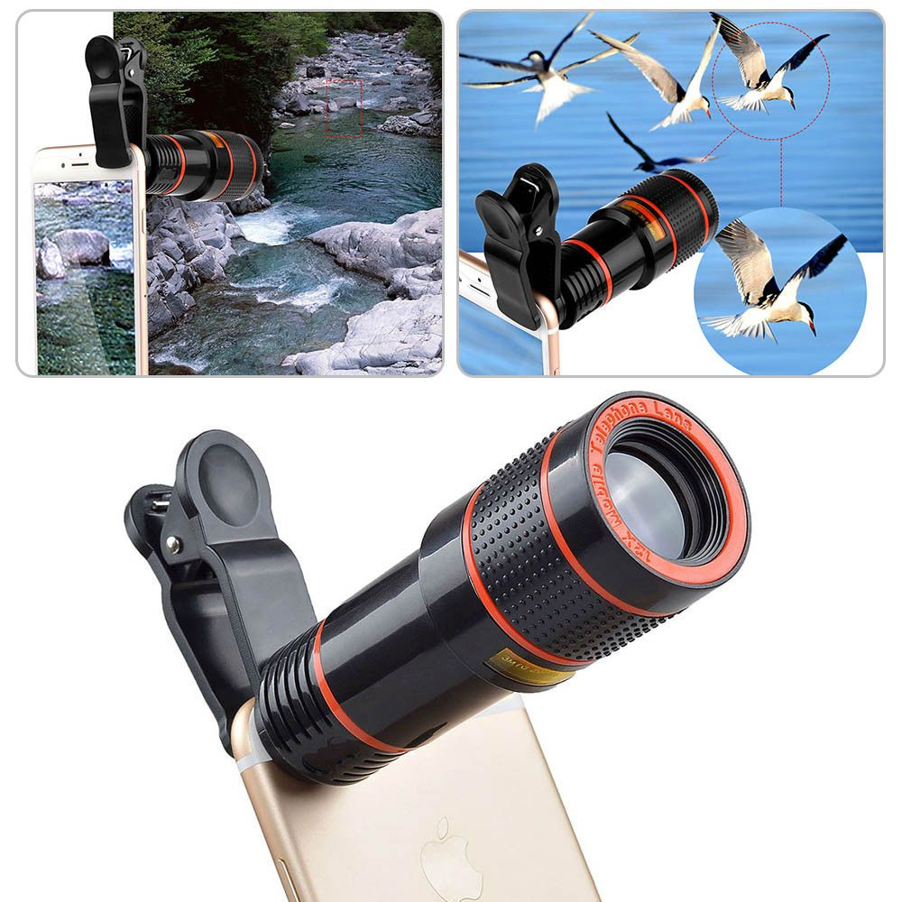 Us Clip On 8x 12x Optical Zoom Telescope Camera Lens For Samsung
