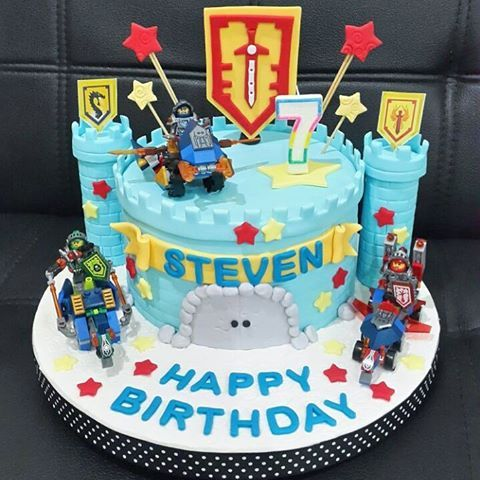 Outstanding Lego Nexo Knight Birthday Cake For Steven 5Th Birthday Funny Birthday Cards Online Eattedamsfinfo